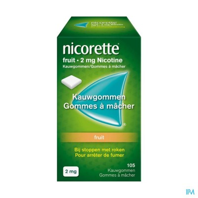 Nicorette Fruit Kauwgom 105x2mg