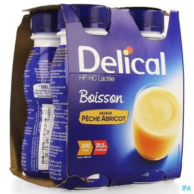 Delical Melkdrank Hp-hc Perzik-abrikoos 4x200ml