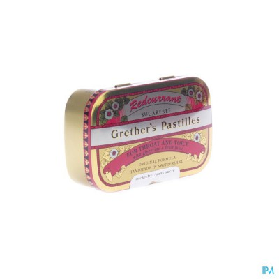 Redcurrant Grethers Sugarless Vit C 110g