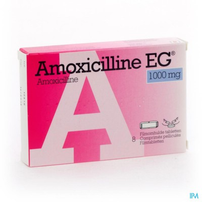 Amoxicilline Eg Caps 8 X 1000mg
