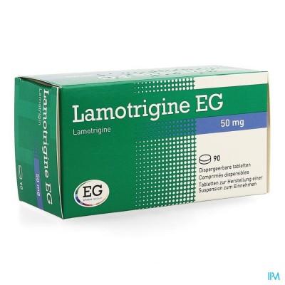 Lamotrigine Eg 50mg Comp Disp 90 X 50mg