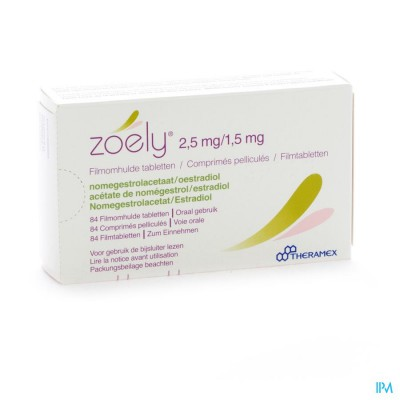 Zoely 2,5mg/1,5mg Filmomh Tabl 84