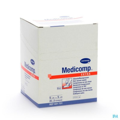 Medicomp 5x5cm 6l. St. 25x2 P/s
