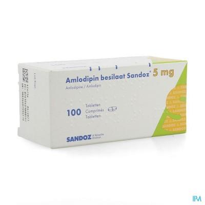 Amlodipine Besilaat Sandoz C0mp 100x5mg