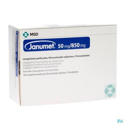 Janumet 50/850mg Filmomh Tabl 196