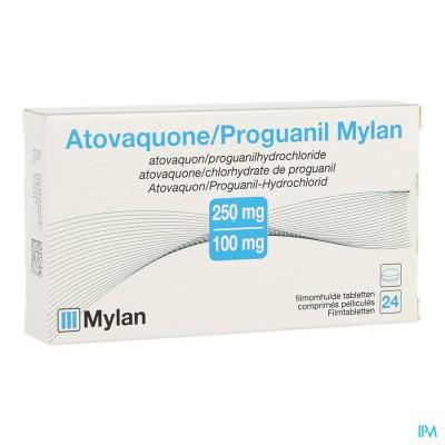 Atovaquone Proguanil Mylan Filmomh Tabl 24