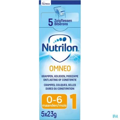 Nutrilon Omneo 1 poeder 5x23g Volledige zuigelingenvoeding