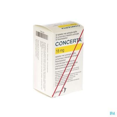 Concerta Tabl 30 X 18mg