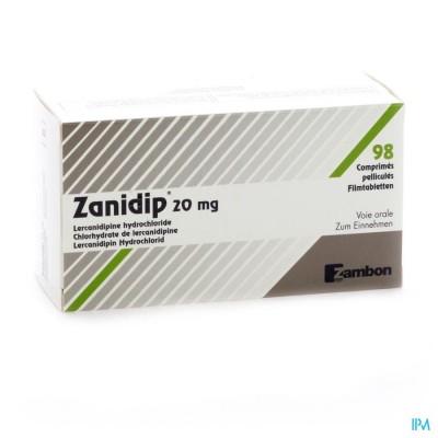 Zanidip Comp 98 X 20mg