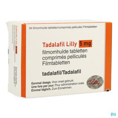 Tadalafil Lilly 5mg Filmomh Tabl 84 X 5mg