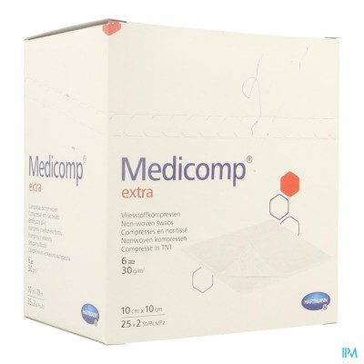 Medicomp 10x10cm 6l. St. 25x2 P/s
