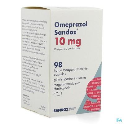 Omeprazol Sandoz Caps Enter 98 X 10mg