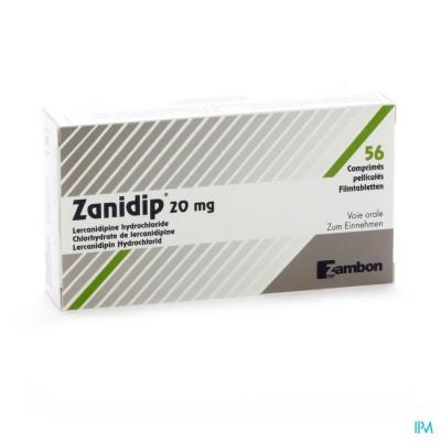 Zanidip Comp 56 X 20mg