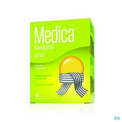 Medica Keeltabletten Lemon Zuigtabl 36