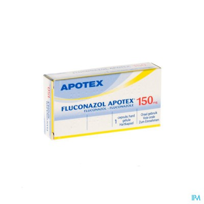Fluconazol Apotex 150mg Caps 1