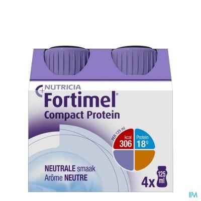 Fortimel Compact Protein Neutraal Flesjes 4x125 ml