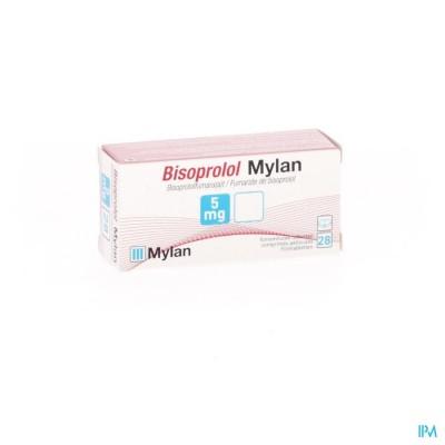 Bisoprolol Mylan 5,0mg Comp 28 X 5,0mg