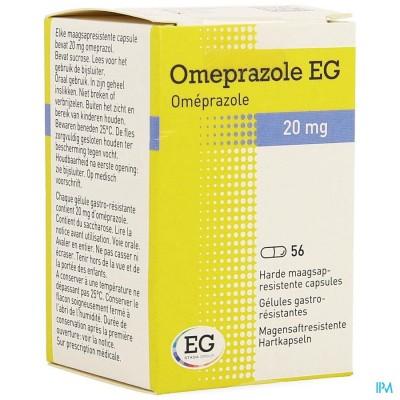 Omeprazole Eg 20mg Caps Maagsapresist Pot 56x20mg