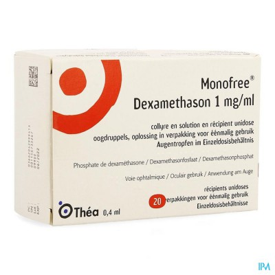 Monofree Dexamethason 1mg/ml 20 Ud X 0,1 %
