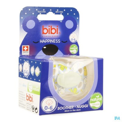 Bibi Fopspeen Hp Natural 4 Friends Glow Dark 0-6m