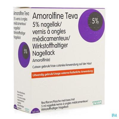 Amorolfine Teva Medische Nagellak 1 X 5ml