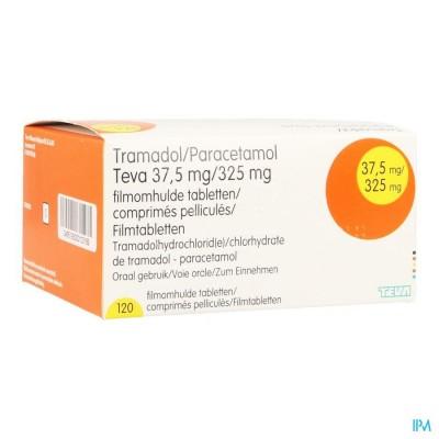 Tramadol Paracetamol 37,5mg/325mg Teva Filmomh 120
