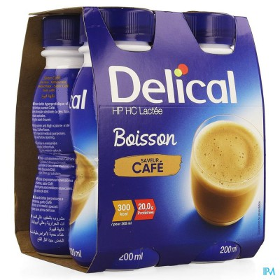 Delical Melkdrank Hp-hc Koffie 4x200ml
