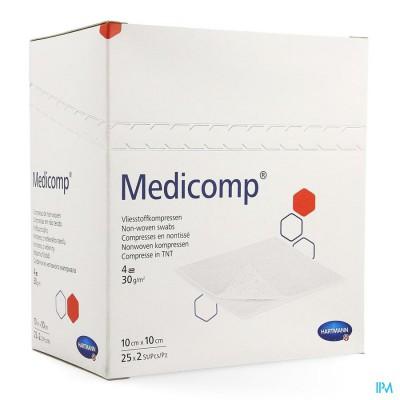 Medicomp 10x10cm 4l.st. 25x2 P/s
