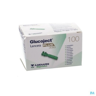 Glucoject Lancets Plus 33g 100 44121