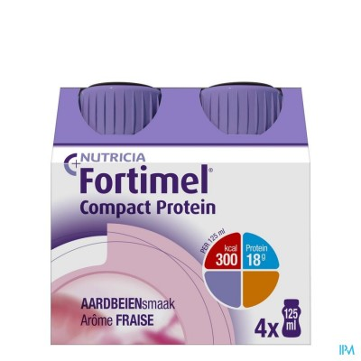 Fortimel Compact Protein Aardbei 4x125ml