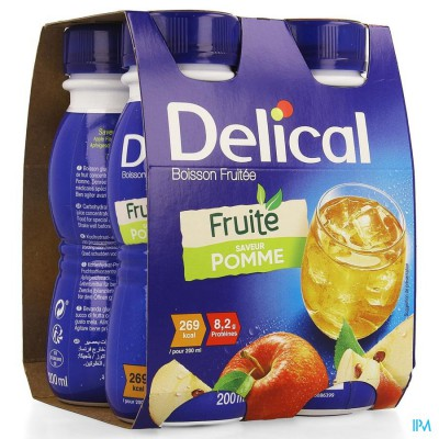 Delical Vruchtendrank Appel 4x200ml