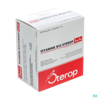 Sterop Vit B12 1mg 1ml 100 Amp