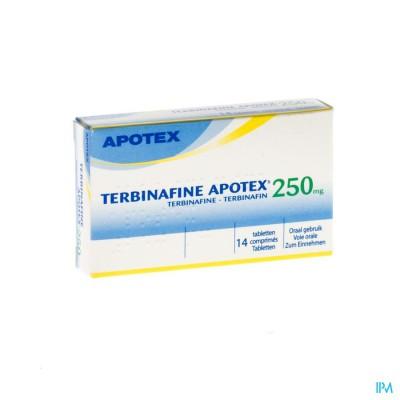Terbinafine Apotex 250mg Tabl 14 X 250mg