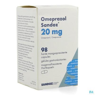 Omeprazol Sandoz Caps Enter 98 X 20mg