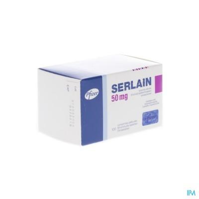 Serlain 50mg Comp Pell 100 X 50mg