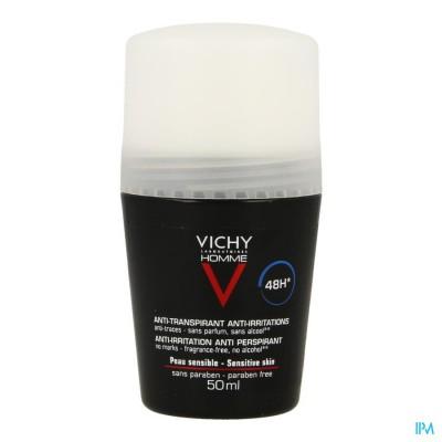 Vichy Homme Deo Gev Huid 48u Roller 50ml