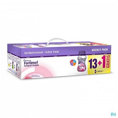 Fortimel Compact Protein Week Pack Aardbei14x125ml