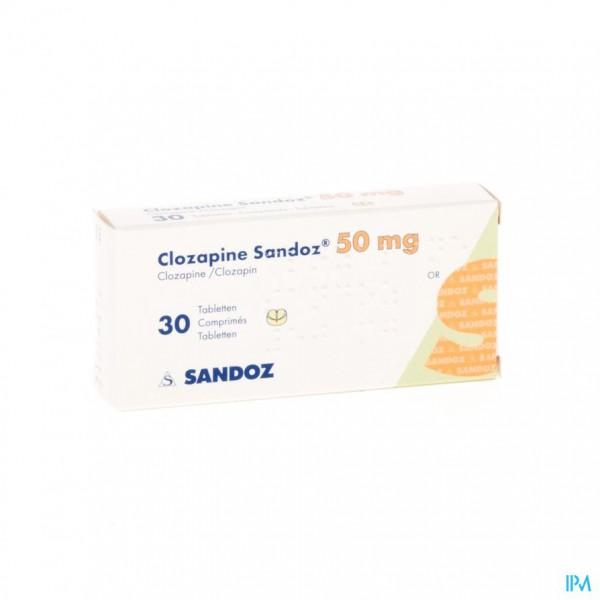 Clozapine Sandoz Comp 30 X 50mg