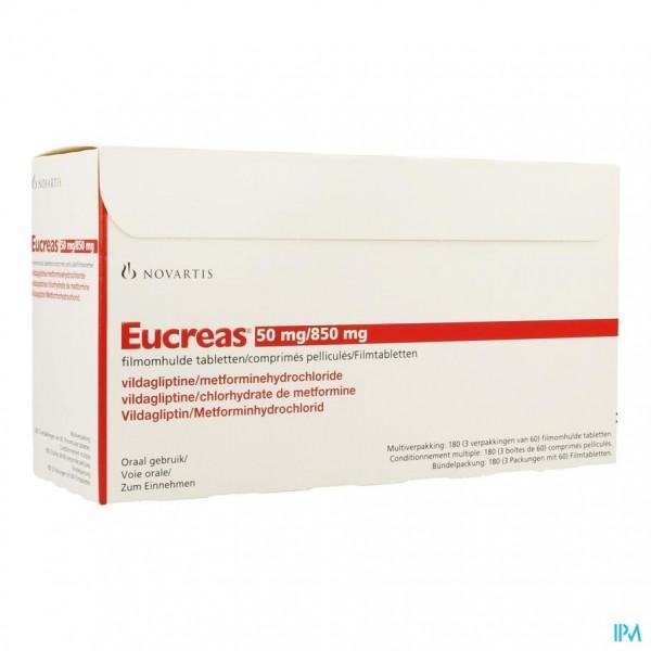 Eucreas 50mg/ 850mg Filmomh Tabl 180
