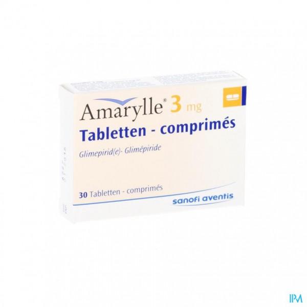 Amarylle Tabl 30 X 3mg