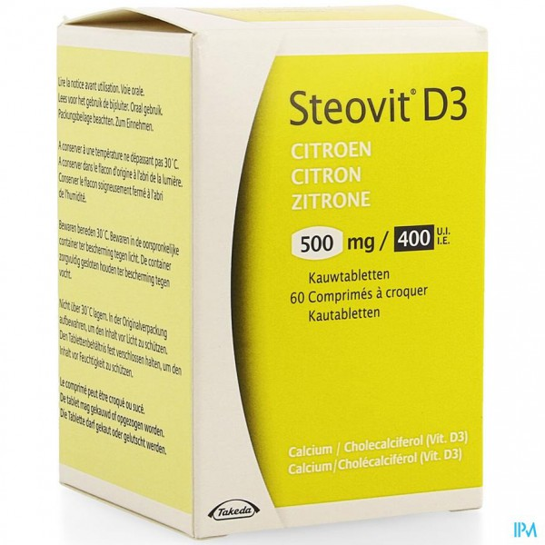 Steovit D3 500mg/400ie Comp 60