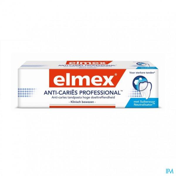 ELMEX® ANTI-CARIËS PROFESSIONAL™ TANDPASTA TUBE 75ML
